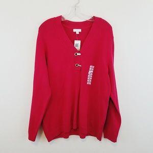 Charter Club Red Sweater 2X New #W245